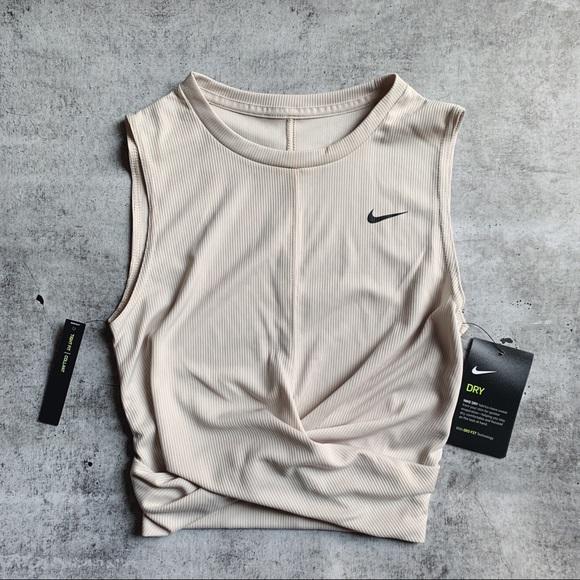 Nike Dri Fit Twist Front Cropped Tank